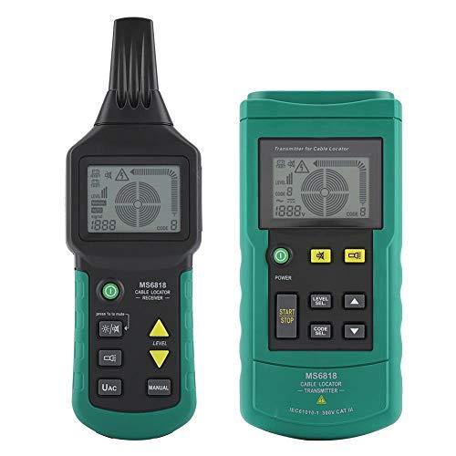 Kabelsuchgerät, kompaktes tragbares Kabel Kabelsuchgerät Metallrohrdetektor Tester Line Tracker Kabel Netzwerkkabel Telefonkabel Erdungsrohr MS6818