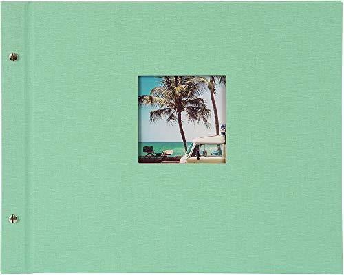 Goldbuch Schraubalbum Bella Vista neo-Mint 39x31 cm Schwarze Seiten