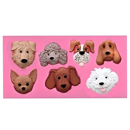 Beiersi Hund Silikon Form für Fondant Marzipan Tortendeko Ausstecher Seife Dekoration Werkzeug (Stil 11)