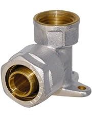 WIROFLEX | Wandschijf inclusief adapter | klemring | complete oplossing | schroefsysteem | fitting | 16 mm x 1/2 IG | voor meerlaagse verbindingsbuis