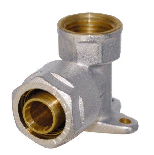 WIROFLEX® | Wandscheibe inklusive Adapter | Klemmring | Komplettlösung | Schraubsystem | Fitting | 16 mm x 1/2 IG | Für Mehrschichtverbundrohr