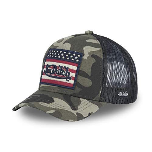 Von Dutch Militär Cap Khaki Flagge USA Trucker Baseball Flag - Herren Gr. Einheitsgröße, grün