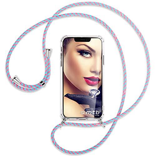 mtb more energy® Handykette kompatibel mit CAT S52 (5.65'') - Candyland - Smartphone Hülle zum Umhängen - Anti Shock Full TPU Hülle