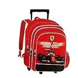 FERRARI Polyester 34.5 cms Multi-Colour School Backpack (BTS-3051)