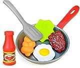TOSSPER 8pcs Spielen Spielzeug Lebensmittel Küchenkleinkind Kinder, Küche, Die Werkzeug-Topf Steak Gemüse Brot Hot Dog Omelette Spielen Pretend