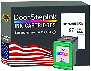 DoorStepInk Remanufactured Ink in The USA Cartridge Replacements for HP 97 1 Color C9363 for HP DeskJet Series: 5740, 5940...