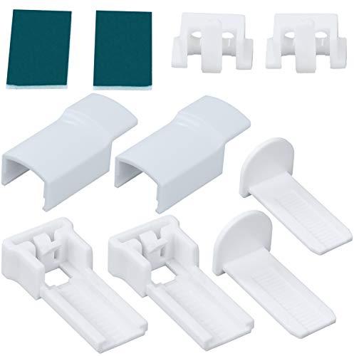 EXKLUSIV HEIMTEXTIL Ersatzteil Zubehör Set Klemmfix für Duo Doppelrollo und Plissee Klemmträger Set für Plissee
