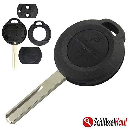 Schlüsselgehäuse Gehäuse Schlüssel Fernbedienung 2 Tasten Neu Rohling Tastenfeld Rubber Pad