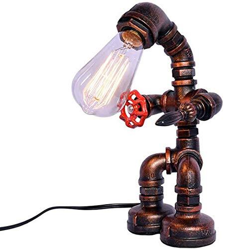 Paket, Trendtasche,SYXX Bar Cafe Leseraum Nachttischlampe Beleuchtung Dekoration Antike Wasserrohr E27 Steampunk Tischlampe American Country Retro Industrietischlampe kreative Persönlichkeit Nostalgis