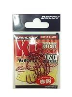 カツイチ(KATSUICHI)デコイ ワーム17R キロフックレッド 1/0 釣り針
