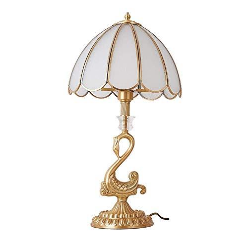 Lámpara de mesa creativa sala de estudio dormitorio noche lámpara todo latón noble lujo vintage lámpara de mesa