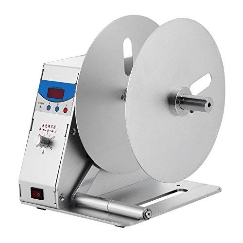 BestEquip Label Rewinder Digital Automatic Rewinding Machine Adjustable Speed 1 Core Sticker Tags Barcode Rewinder Label Printing Machine for Office Warehouse Production line