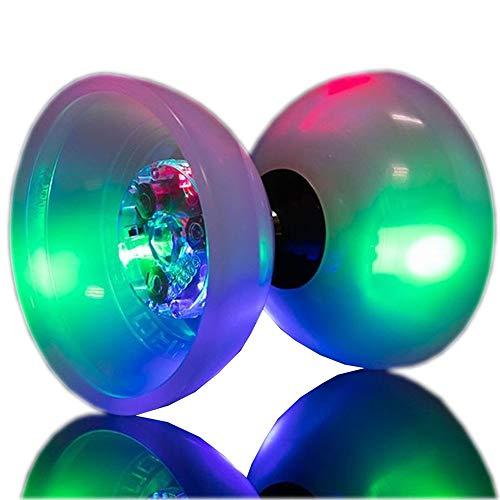 LED ilumina Diabolo con rodamiento Super brillante Diablo Toy profesional Circo Habilidades