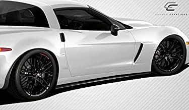 Carbon Creations Replacement for 2005-2013 Chevrolet Corvette C6 GT500 Side Skirt Splitters - 2 Piece