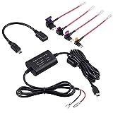 CAMWAY Kit de cableado universal para Dash Cam Mini USB 12V-24V a 5V Kit de Alambre duro Caja de Fusibles Grabadora de Coches Dash Cam con Cable Micro USB para Nextbase, etc.