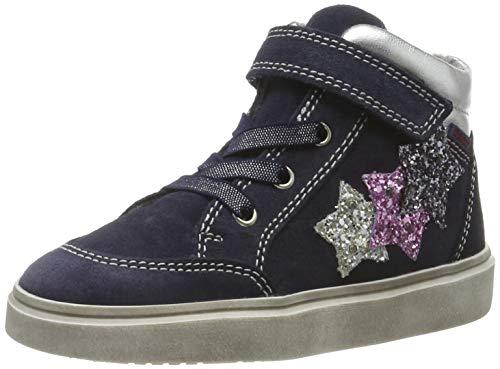 Richter Kinderschuhe Mädchen Ryana Hohe Sneaker, Blau (Atlas/Silver/Can/Ste 7201), 34 EU
