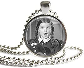 The Addams Family Wednesday Addams and Her Headless Doll 1 inch Silver Plated Pendant Necklace