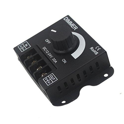 JOYLIT Reguladores de intensidad LED 12V 24V 30A Dimmer del Perilla de 360W Cambio de brillo para Luz LED
