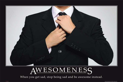 Motivational - Awesomeness Suit Flugzeug Poster - Grösse 91,5x61 cm