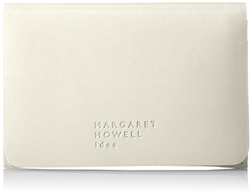 [マーガレット・ハウエルアイデア]名刺入れ【ベンジャミン】牛革ノンステッチMHLW8JM1(専用BOX入り)レディースオフホワイト