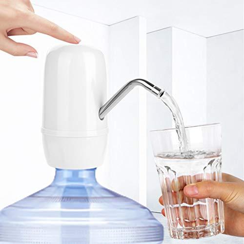 Omabeta Universalflasche Wasserpumpe One Key Operation Wasserspender Doppelmotor USB-Schnellladung für Spielplatz für Wohnzimmer(White)