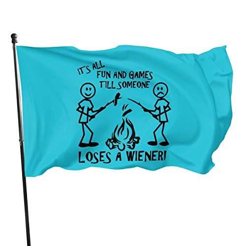 Viento Bandera,Es Toda La Diversión Y Los Juegos Decoración De Bandera Duradera De Primera Calidad para Hogares Y Jardines 150X90Cm
