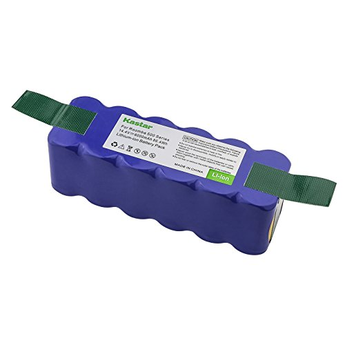 Kastar Lithium-ion Replacement Battery 14.4V 6000mAh for iRobot Roomba R3 500, 600, 700, 800 & 900 Series 510 530 531 532 540 550 570 580 585 610 620 650 660 760 770 780 790 870 880 R3 4419696
