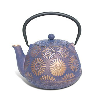 Cast Iron Teapot - Purple Hanabi
