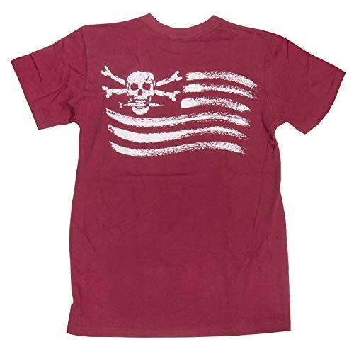 Calcutta - Camisetas de manga corta con bolsillo para hombre - Ropa casual de rendimiento suave - Rojo - Large