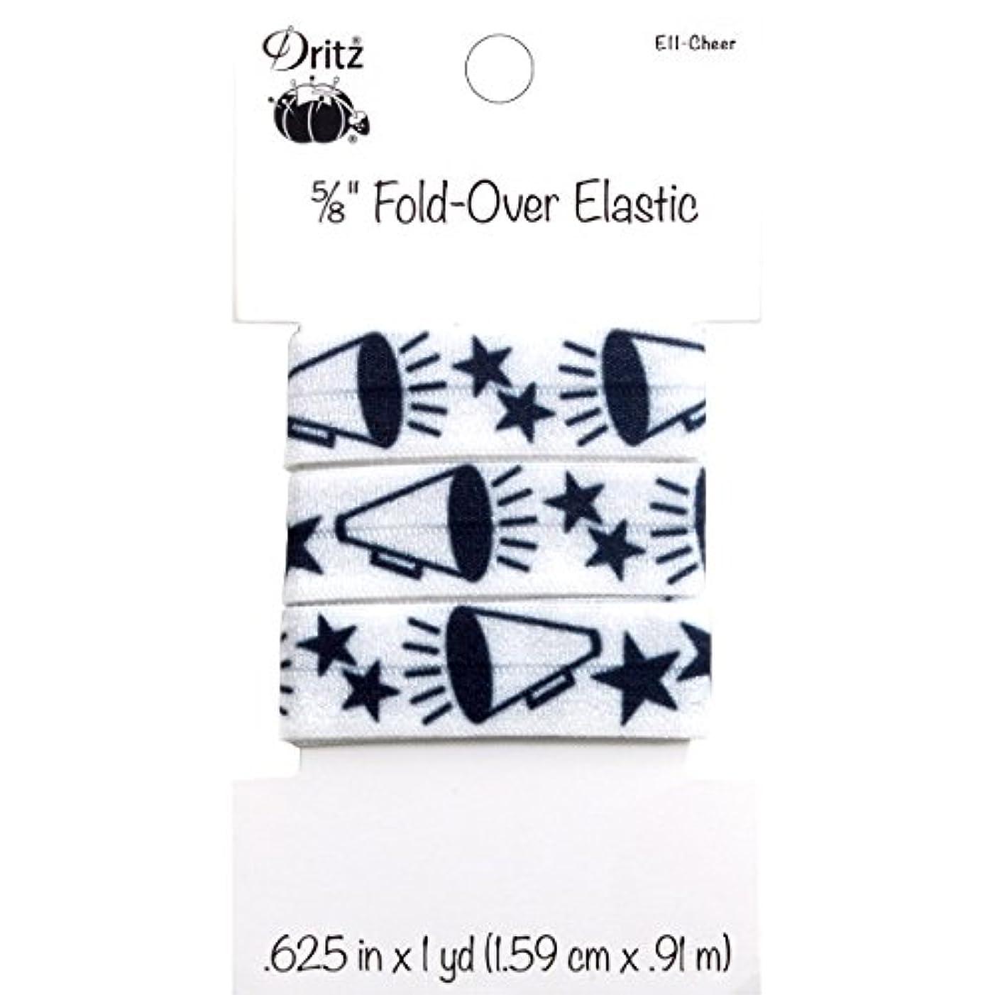 Dritz Fold-Over Elastic Sports Motifs, 5/8 by 1 yd, Cheer