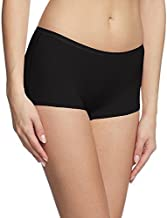 O' Womaniyah! Women's Stretchable Spandex Cotton Short Panty (Black, Large)