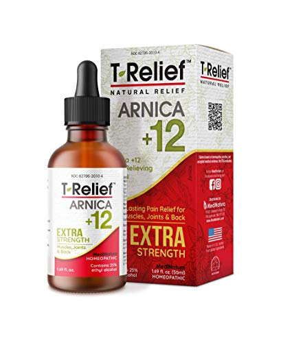 MediNatura T-Relief Pain Relief with Arnica + 12 Plant-Based Pain Relievers - 1.69 oz Drops