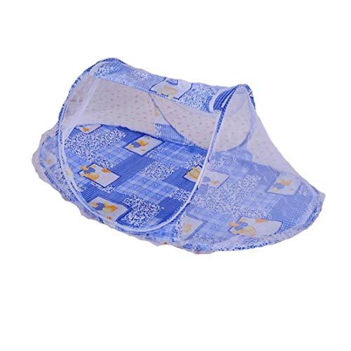 YaptheS Baby-moskito-Netz-Streifen-Muster-beweglicher Säugling Tent Folding Reisebett Mesh-Zelt-überdachung-moskito-Netz Für Kinder Blau 1pc