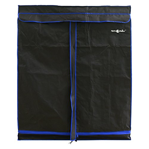 Hydroplanet 36x36x72 Mylar Hydroponic 600D 3'x3' Extra-Thick Canvas Grow Tent for Indoor Plant...