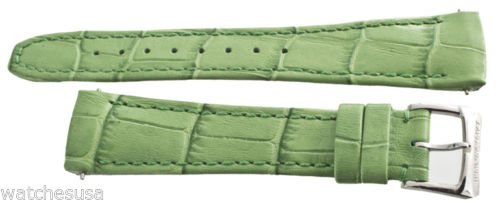 Raymond Weil 18 mm da donna in pelle verde per Tango Watch Band strap 5981
