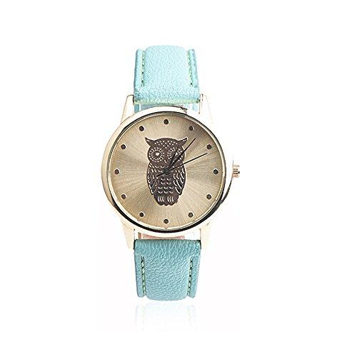 Doingshop Unisex Armbanduhr Eulen Quarz Mode Kreative Studentin Geburtstag Geschenk Geburtstagsgeschenkuhr Paar Uhr
