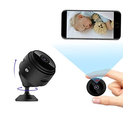 Cámara oculta 1080P HD cámara espía con visión nocturna, cámara wifi interior inalámbrica, detección de movimiento, vigilancia para exterior/interior