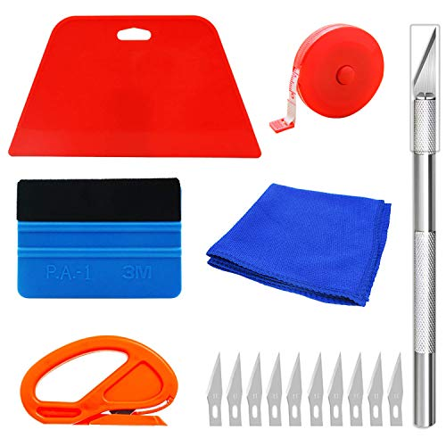 Wallpaper Smoothing Tool Kit, Multi-Function 16 Pcs Smoother Tools Set,for Adhesive Contact Paper Application Window Film Craft Vinyl