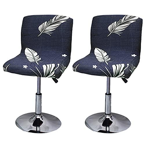 Hengshitong - Fodera per sgabello da bar, estensibile, 2 pezzi, alta stampa, per bar, copertura per sedia da sala da pranzo #3