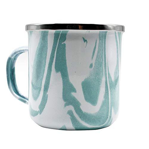 Taza de café y té esmaltada de acero inoxidable (Verde Clarito)