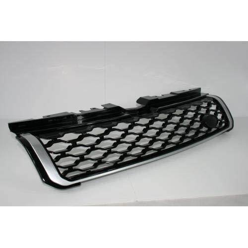 Zunsport Compatible con Range Rover Evoque Dynamic Mejora de la Parrilla Delantera Negra Brillante con Acabado Plateado (2011-2018)