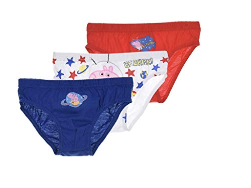 GraKiMo Peppa Pig 3er-Pack Slip/Unterhosen Jungen (116/128)