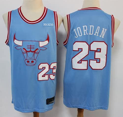 XHDH Malla Sin Mangas Bulls Jersey Transpirable # 23 Jordan Baloncesto Mojaming Jersey Basketball Best Gift Jersey,Azul,M 170~175cm