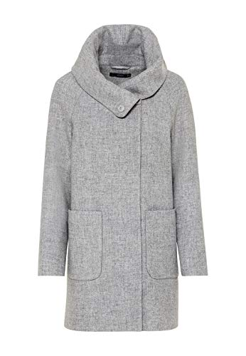 HALLHUBER Mantel aus recycelter Wolle gerade geschnitten hell Silber-Melange, 42