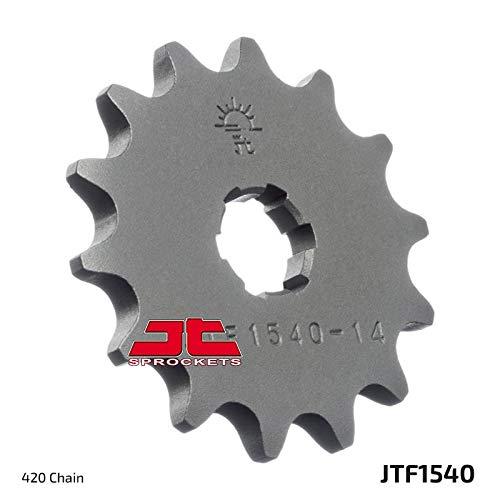 JT Piñón delantero JTF1540 14 dientes para Kawasaki Z125 Pro (BR125) JHF, JHFA.JJF.JJFA.JJFB 17-18