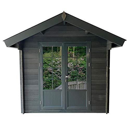 HORI® Gartenhaus Gerätehaus aus WPC grau 29 mm I 253 x 253 cm (B x H), Trend A