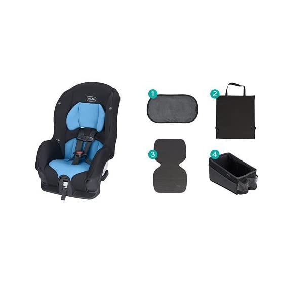 Evenflo Tribute LX Convertible Car Seat, Azure Coast with Car Seat Accessory Kit