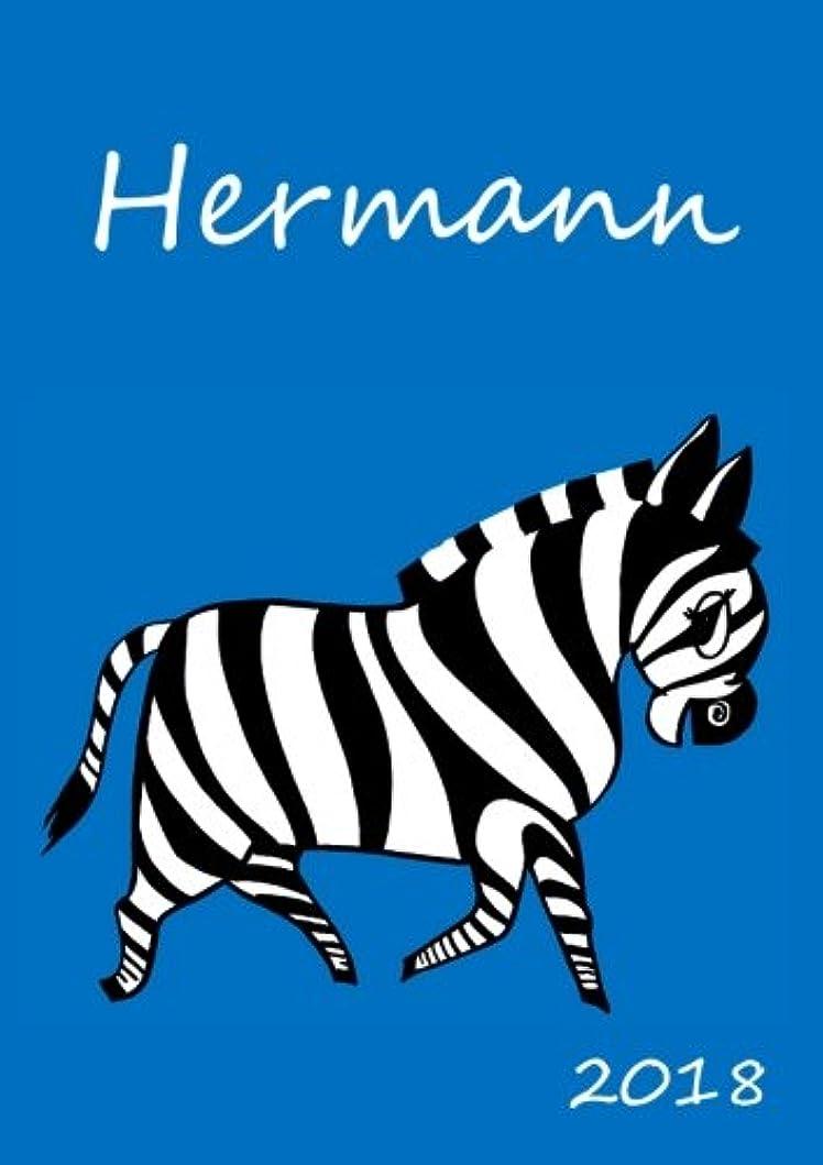 国歌なので祈る2018: personalisierter Zebra-Kalender 2018 - Hermann - DIN A5 - eine Woche pro Doppelseite