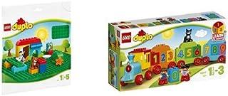 """レゴ(LEGO)デュプロ はじめてのデュプロ(R) """"かずあそびトレイン"""" 10847 & レゴ(LEGO) デュプロ 基礎板(緑)2304"""