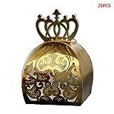 Paquete de 25 cajas huecas con forma de corazón para regalos de chocolate, para baby shower, bodas,...